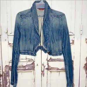 Guess Jeans Jacket Blue Jean cropped blazer M